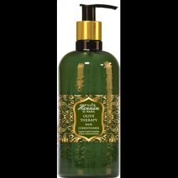 pompflacon Hammam El Hana hair conditioner uit de Olive Therapy serie van Pielor