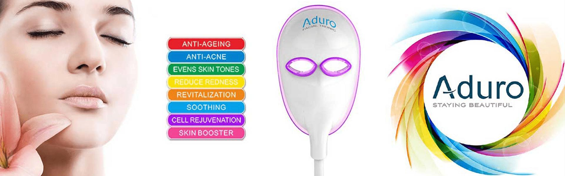 Header Led licht therapie behandeling met Aduro Led masker