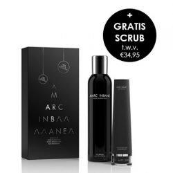 Marc Inbane Noir giftset bestaande uit Natural Tanning spray met een gratis Black exfoliator. Nu bij Essys