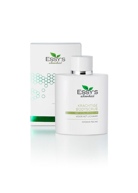 Essy's - Krachtige Bodyscrub flacon en verpakking
